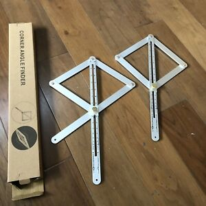 Wood Diagonal Square Protractor Multi-Function Internal/External Angles Tool