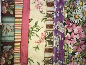 Big Block QUILT KIT Fabrics -with Pink/Green/Purple  Florals Fabrics