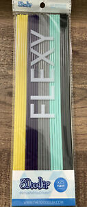 3Doodler Pack 24 Strands  FLEXY 3D Printing Filament FLX-MIX1 Yellow Purple Aqua