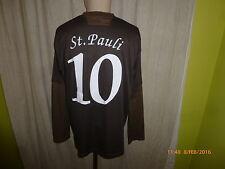 "FC St.Pauli DoYou Football Langarm Matchworn Trikot 08/09 ""Congstar"" Nr.10 Gr.XL"