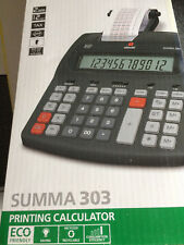 New 12 Large Digit LCD, 2 Colour Printing Mains Calculator, Gp Margin, Tax Calcs
