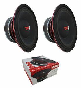 "2 x DS18 PRO-X10MBASS 10"" 8 Ohm Midbass Speaker Car Pro Audio 1600W"