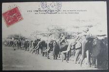 CPA INDOCHINE CAMBODGE Les soixante éléphants qui forment l'escorte du roi