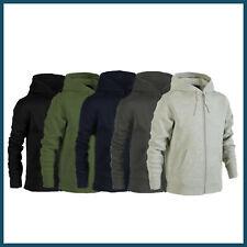 Plain Zip Up Hoodie Hooded Sweatshirt Urban Road Heavy Blend In 5 Colours