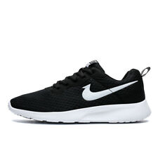 UK Mens Gym Sports Shoes Running Trainers Lace Up Casual Pumps Sneakers Black