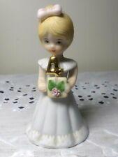 1981 Enesco Porcelain Figurine Growing Up Birthday Girls Blonde Age 4