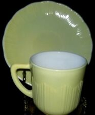 Vintage Spring Yellow Shell design Demitasse Tea Cup and Saucer Set