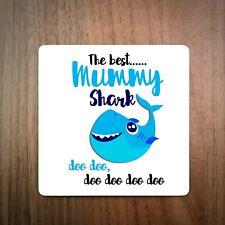 The Best Mummy Shark Doo, Doo, Doo Coaster - Mother's Day Gift - Do Do Do