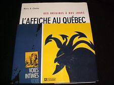 L,AFFICHE AU QUEBEC<>MARC H. CHOKO<>BOOK IN FRENCH<>LES ÉDITIONS DE L'HOMME