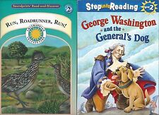 2 Level 2 Kid's Books: Run, Roadrunner, Run! & George Washington & General's Dog