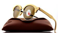 POLARIZED Genuine RAY-BAN CLUB ROUND WOOD Classic B15 Sunglasses RB 4246M 117957