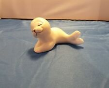 1 Vintage Baby Pup White Seal Figurine Mexico Ceramic by Oxford