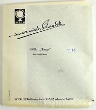 Schaubek Blankoblätter 50 Blatt TANGA schwarzer Karton