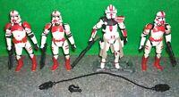 Star Wars Clone Commander Deviss + Shock Trooper Lot - USED