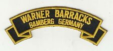 """Warner Barracks Bamberg Germany 4"""" embroidered scroll tab patch"""