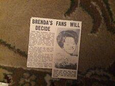 B2-2 ephemera 1963  picture article brenda lee release all alone am i