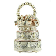 Mary Frances I Do Bridal Ivory Flower Bride Wht Spring 16 Beaded Bag Handbag NEW