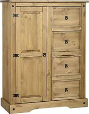 Corona 1 Door 4 Drawer Childrens Wardrobe - Pine Nursery Bedroom Furniture