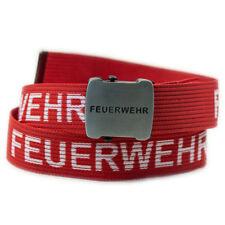 Feuerwehr Gürtel 120cm rot/weiß mit Flaschenöffner, Feuerwehrgürtel Koppel FW