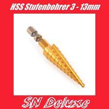 "HSS Stufenbohrer Kegelsenker Bohrer 3 - 12mm 1/4"" Hex"