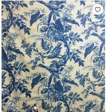 19th Century French Leaf /Bird Printed Cotton Fabric