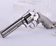 Revolver Pistol ​Keychain Weapon Mini Gun Model Metal Keyring  Key Ring Chain