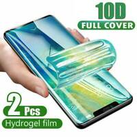 2× For iPhone 11 Pro XS MAX 7 8 PLUS Hydrogel Protective Film Screen Protector