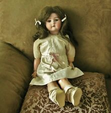 "ANTIQUE VINTAGE CUNO OTTO DRESSEL 1912-4 BISQUE DOLL, COMPO, 23"", ALL ORIG.!!!"