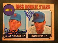 SIGNED Nolan Ryan Jerry Koosman 1968 Topps #177 Rookie Autographed Card