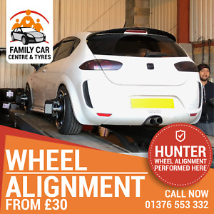 Wheel Alignment, Tracking, Hunter, All Cars, Light Commercial Vans, Free Check.