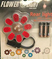 Fanale posteriore led bimba fiore rosso luce dietro rossa bambina rear light