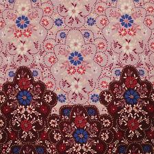 Floral Print on Wool Peach Fabric - Style P-20-Wool-Peach