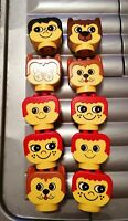 10 LARGE LEGO DUPLO PRIMO HEADS ASSORTED FACES NICE CONDITION FREE UK POST