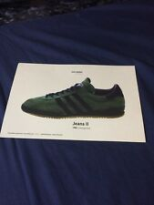 ADIDAS ARCHIVE 1980 JEANS II TRAINING SHOE TRAINER COLLECTABLE CARD POSTER MRN