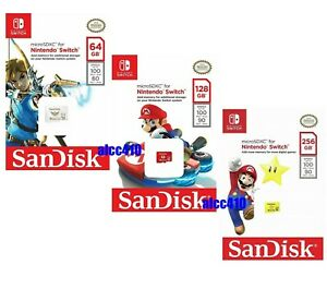 Nintendo Switch 64GB 128GB 256GB Micro SD Card SanDisk SDXC Memory Card C