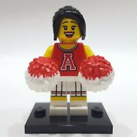 """LEGO Collectible Minifigure #8833 Series 8 """"RED CHEERLEADER"""" (Complete)"""