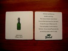 2  GROLSCH ' BREWED  SLOWLY ' BEER  MATS / COASTERS   NEW