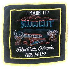"""Vintage Pikes Peak Colorado Souvenir Decorative Pillow Sham 17"""" x 17"""""""