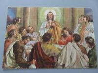 Carte Postale Vintage Religieuse Jésus Spezzò Le Pain Never Shipped Nouvelle