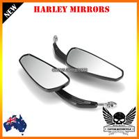Black Rear view Mirror for Harley Sportster Softail Road King Glide dyna custom