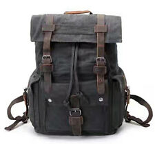 Outdoor Canvas Rucksack Camping Hiking Backpack Laptop Shoulder School Bag New