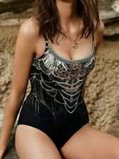 Camilla Black One Piece XS (AU 8) Under a Full Moon Scoop Neck & Back RRP $299