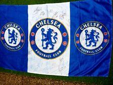 Drapeau 100x150 cm CHELSEA FC signé par team 2007 / 2008 foot ultra flag