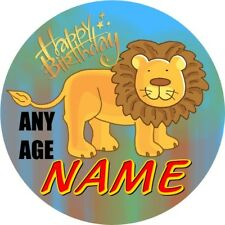 LION BADGE CHILDRENS PERSONALISED BIRTHDAY BADGE PARTY