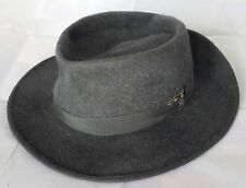 VINTAGE AUTHENTIC RAINER HAIR GRAY MEN'S FEDORA HAT SIZE:US6 7/8 EU55