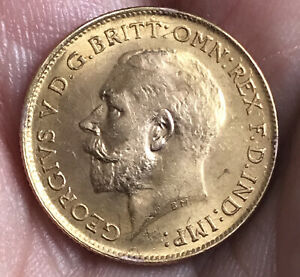 George V Gold Half Sovereign - 1914 - Ex-jewellery