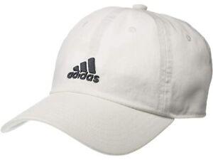 New ADIDAS Aeroready White / Gray Logo Youth Fit Adjustable Baseball Cap ASL001