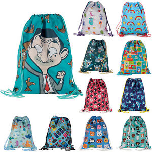 Drawstring Bag Backpack Waterproof Childs PE Bag School Swim Gym Sport Boys Girl