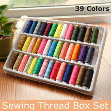 39 Roll Sewing Cotton Thread Box Kit Set For DIY Sewing/Embroidery Machine