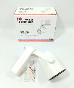 Low Voltage Track Light Head 12V MR16 White 20W-50W Round Gimbal Nora Lighting